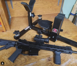 P3 Ultimate Gun Vise with AR-15 Rifle